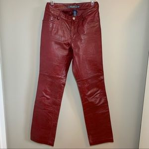 GAP Vintage Real Leather Red Pants